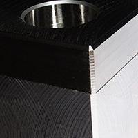 Mould base – milled side close up.